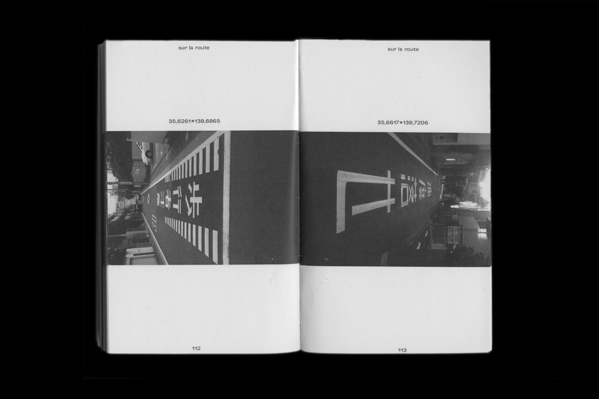 Lucas' photographs of horizontal road signage in Japan are collected in this booklet.